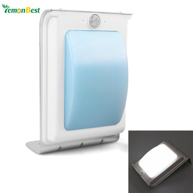 Wall Lamp Waterproof Solar Powered 24 LED Motion Sensor Light Wall Mount Lamp.