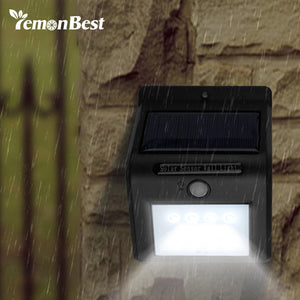 LemonBest 16-LED Solar waterproof Outdoor Lighting Garden Lamp with Motion Sensor Bright Light.