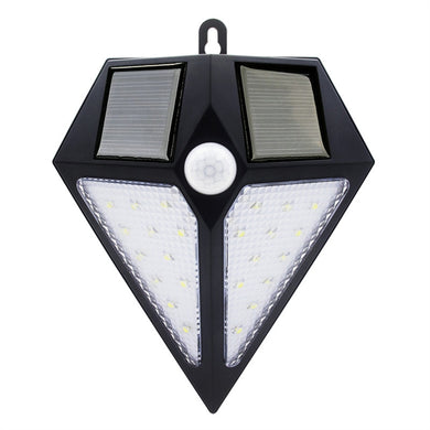 IP65 Waterproof 0.3W Light and Motion Sensor Controlled Solar Powered LED Light Lamp.