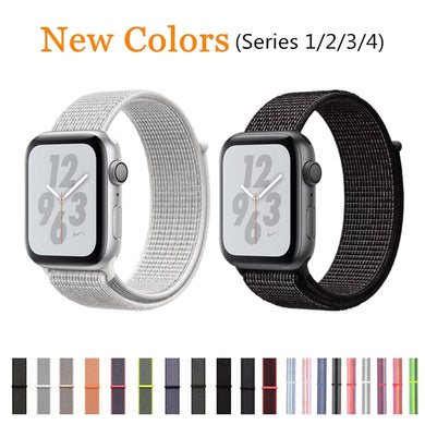 New Band For Apple Watch Series 1/2/3 38MM 42MM Nylon Soft Breathable Replacement Strap Sport Loop For iWatch Series 4 40MM 44MM