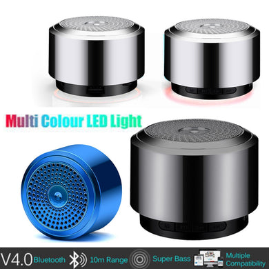 New Mini Portable Bluetooth Speaker USB Led Light Wireless Portable Music Box Subwoofer Small Outdoor