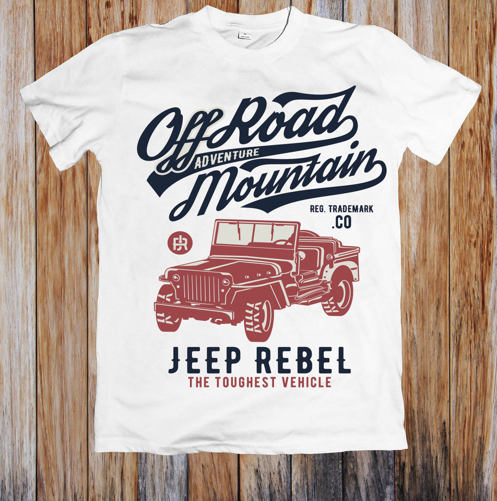 62fc28f3 OFF ROAD MOUNTAIN JEEP REBEL UNISEX T-SHIRT Hot Sell 2018 Fashion T Shirt  Short