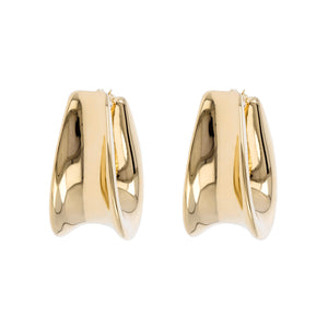 ALLONGE CONCAVE HOOP EARRINGS - WSRE00016