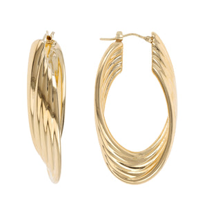 ASCENDING ROPE HOOP EARRINGS - WSRE00025