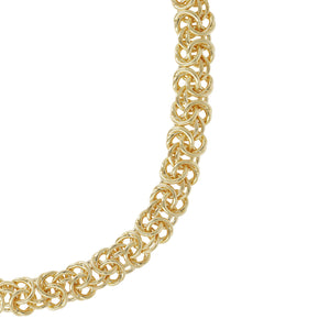 "BOLD 20"" BYZANTINE NECKLACE - WSRE00071 from above"