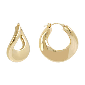 BOLD CURVED HOOP EARRINGS  - WSRE00081