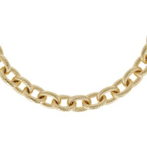 BOLD TEXTURED ROLO NECKLACE - WSRE00103 from above