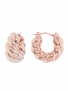 BRAID TWIST HUG HOOP EARRINGS - WSRE00017
