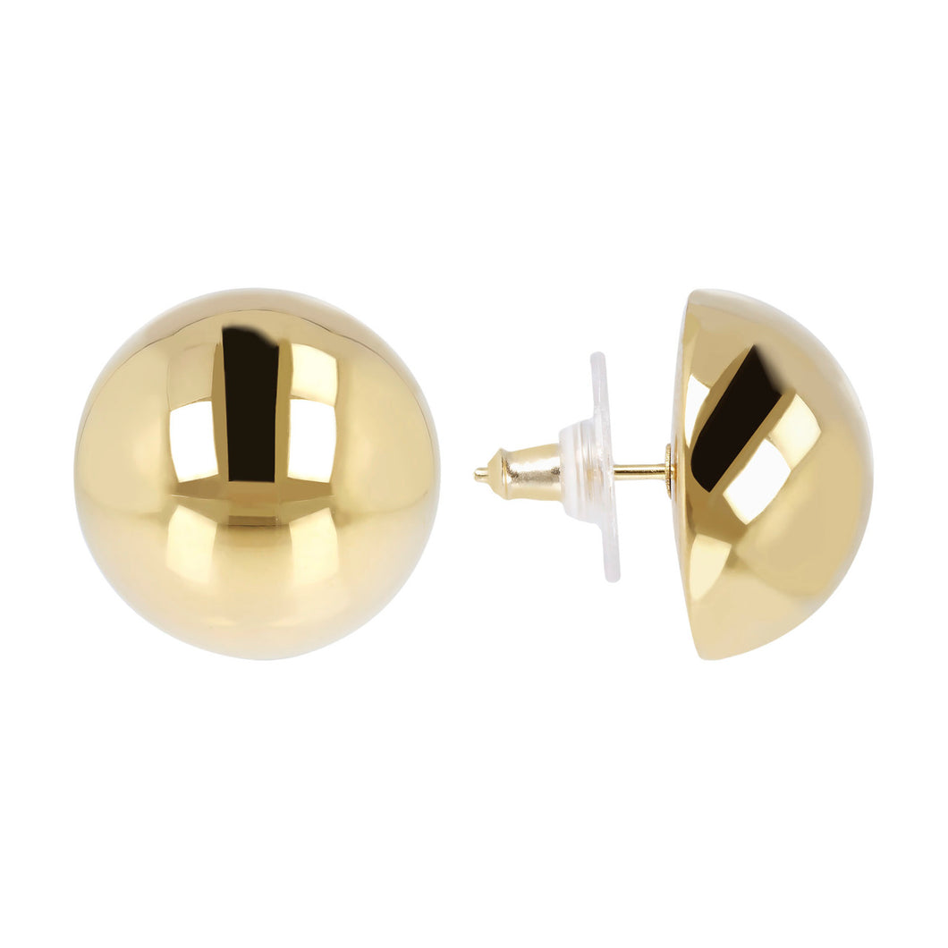 CLASSIC BUTTON EARRINGS - WSRE00053 front and side