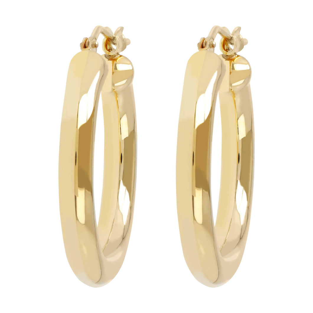 CLASSIC HOOP EARRINGS  - WSRE00070 front and side