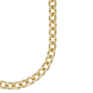 CLASSIC OVAL ROLO NECKLACE - WSRE00061 from above