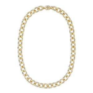 CLASSIC OVAL ROLO NECKLACE - WSRE00061