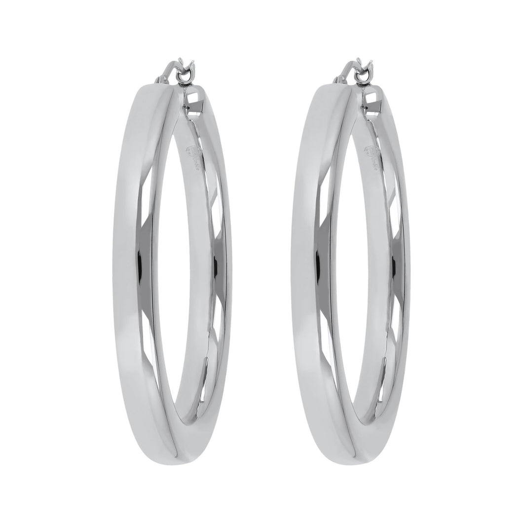CLASSIC PETITE HOOP EARRINGS - WSRE00083 front and side