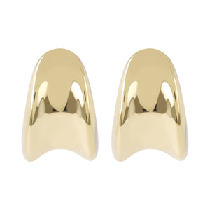 CONCAVE DROP HUG EARRINGS - WSRE00102 front and side