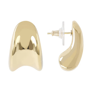 CONCAVE DROP HUG EARRINGS - WSRE00102