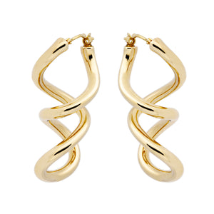 DOUBLE TWIST DANGLE EARRINGS - WSRE00009