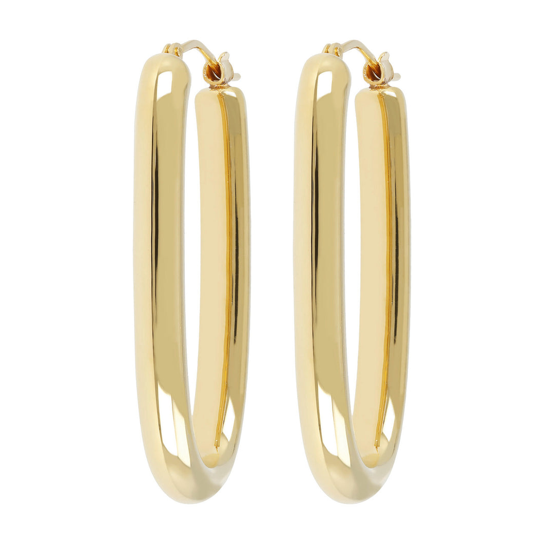 ELONGATED HOOP EARRINGS - WSRE00091 front and side