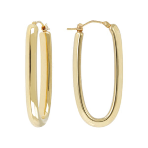 ELONGATED HOOP EARRINGS - WSRE00091