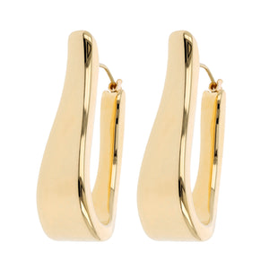 ELONGATED OVAL HOOP EARRINGS - WSRE00012