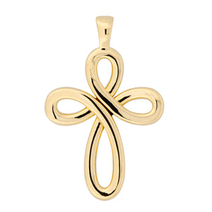 GOLD POLISHED CROSS PENDANT - WSRE00039