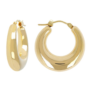 HIGH POLISHED BOLD HOOP EARRING - WSRE00067