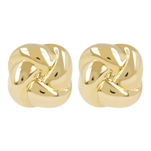 KNOT BUTTON EARRINGS - WSRE00080 front and side