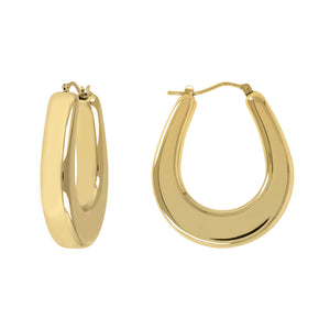 MODERN OVAL HOOP EARRINGS - WSRE00087