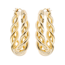OPEN BRAID OVAL HOOP EARRINGS - WSRE00023