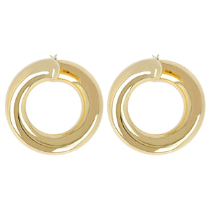 OPEN HOOP EARRINGS - WSRE00068 front and side