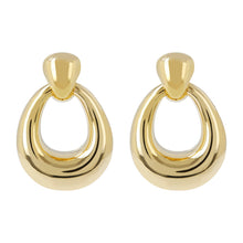 OVAL DROP EARRINGS - WSRE00064 front and side