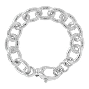 OVAL STRIPED ROLO' BRACELET WITH LOBSTER CLASP - WSRE00104