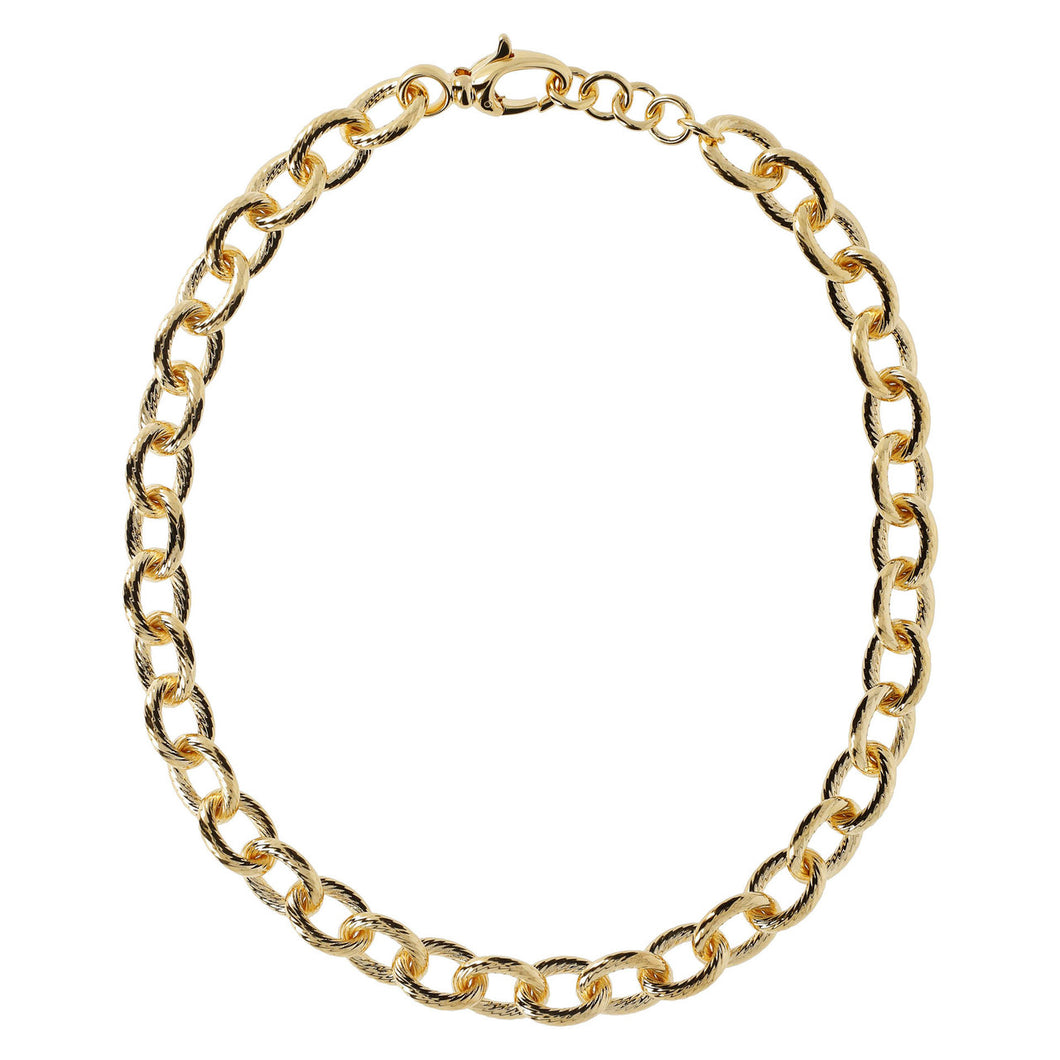 OVAL STRIPED ROLO' NECKLACE - WSRE00105