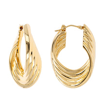 PETITE ASCENDING ROPE HOOP EARRINGS - WSRE00024 front and side