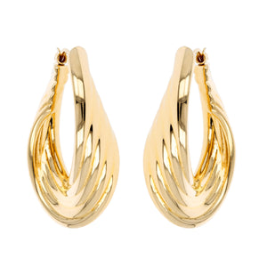 PETITE ASCENDING ROPE HOOP EARRINGS - WSRE00024