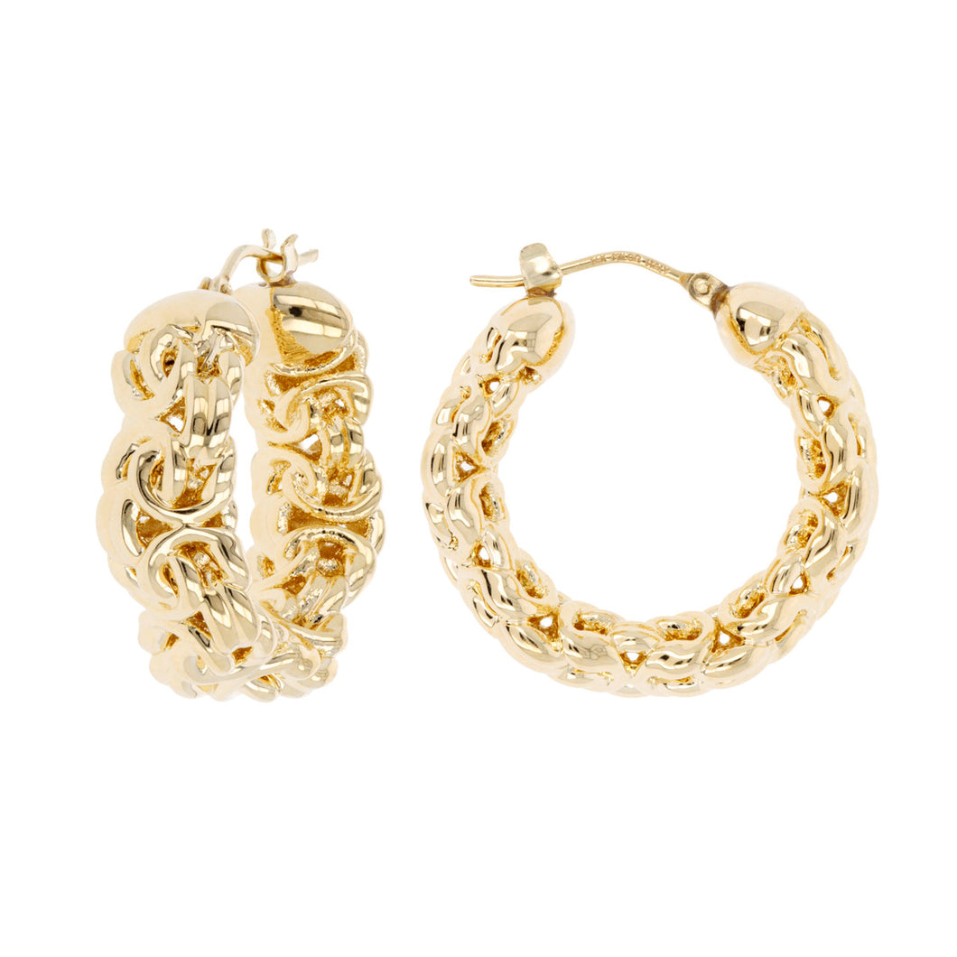 PETITE BYZANTINE HOOP EARRINGS - WSRE00006 front and side