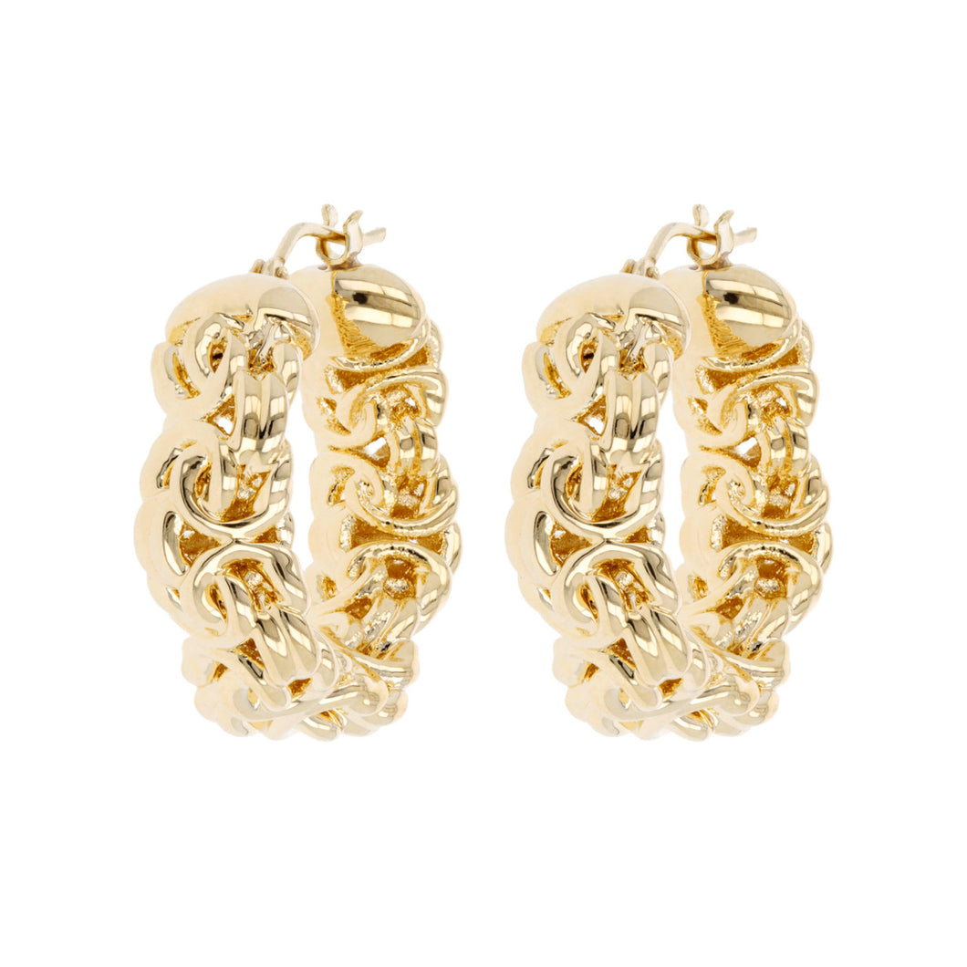 PETITE BYZANTINE HOOP EARRINGS - WSRE00006