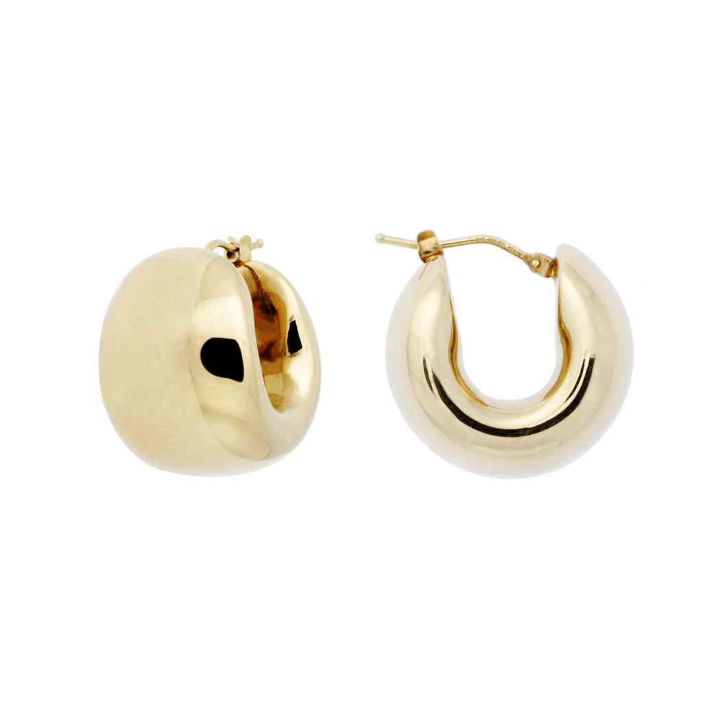 Petite Hug Hoop Earrings - WSRE00001 front and side