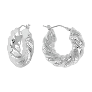SCULPTURAL TWISTED HOOP EARRINGS - WSRE00086