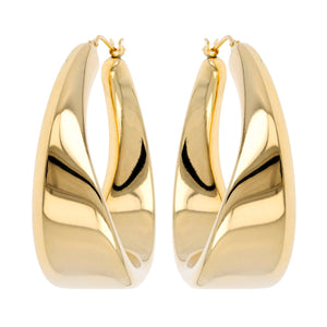 SCULPURED TWIST HOOP EARRINGS - WSRE00004
