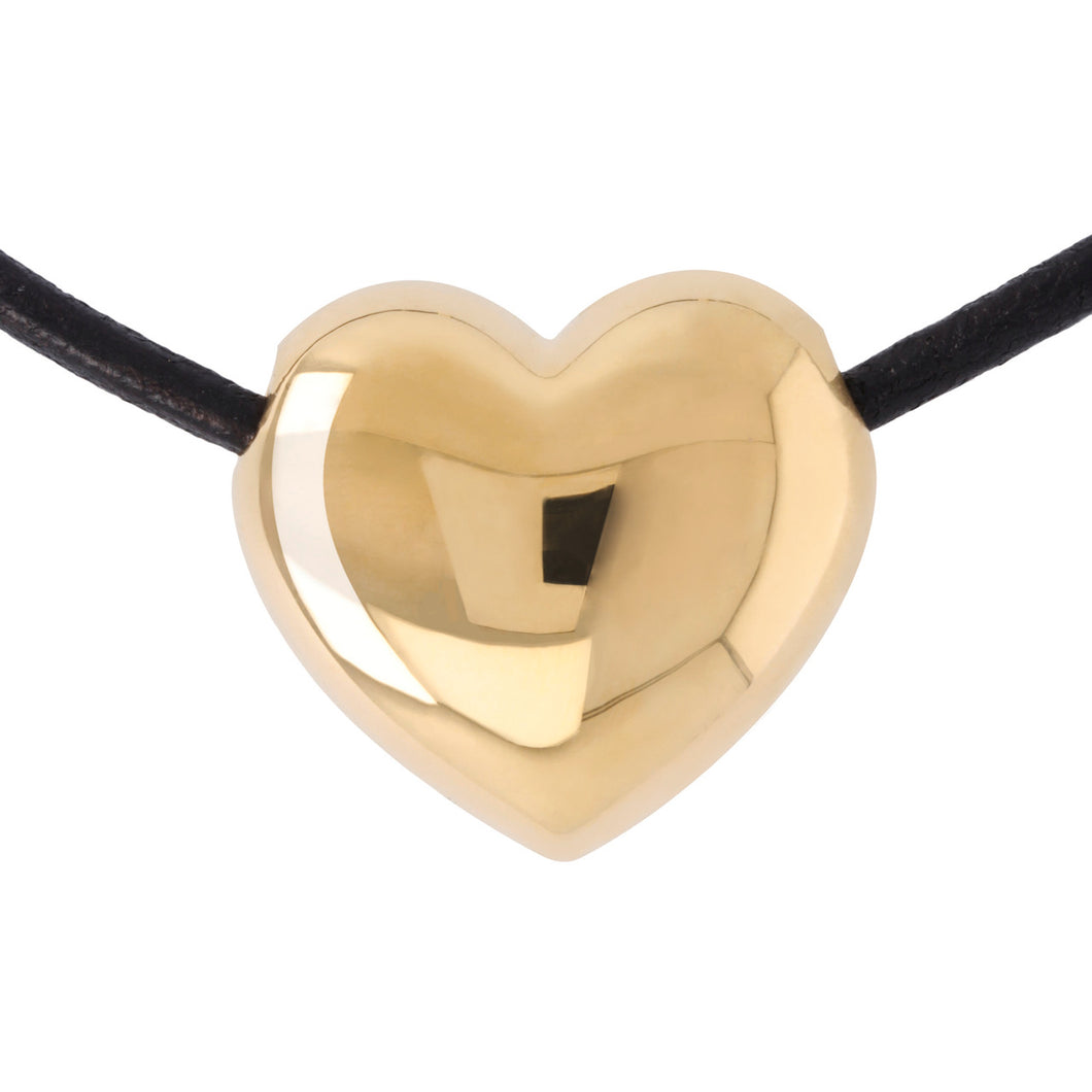 SHINY HEART NECKLACE  - WSRE00036 from above