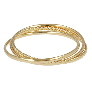 SHINY INTERLOCKED SLIP ON BANGLES - WSRE00048