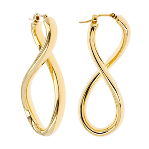 SINGLE TWIST HOOP EARRINGS - WSRE00043 front and side