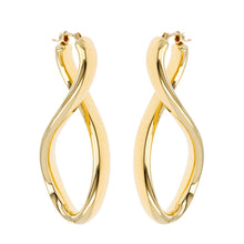 SINGLE TWIST HOOP EARRINGS - WSRE00043