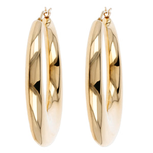 SLENDER BOMBE' OVAL HOOP EARRINGS - WSRE00015