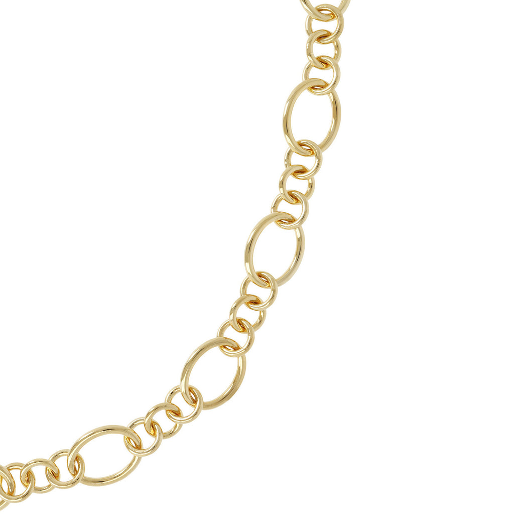 SMALL & LARGE OVAL LINK NECKLACE - WSRE00072 from above