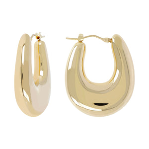 SOAVE ORO BOMBE' OVAL HOOP EARRINGS - WSRE00116