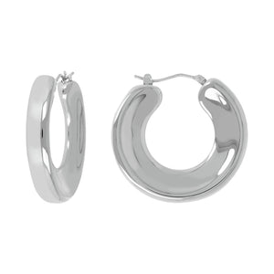 STRIKING CONCAVE HOOP EARRINGS - WSRE00111