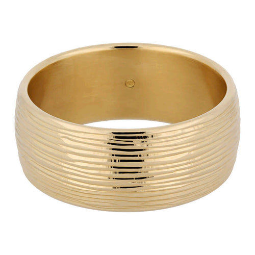 TEXTURED LINES WIDE BANGLE - WSRE00052