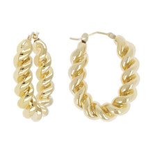 TWISTED OVAL HOOP EARRINGS - WSRE00069