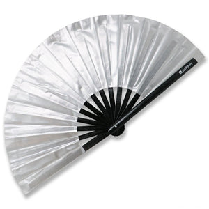 Beyond Basic Metallic Silver Fan